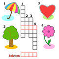 Crossword words game for children Royalty Free Stock Images