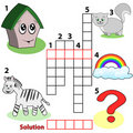 Crossword words game for children Stock Image