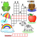 Crossword words game for children Stock Photo