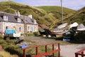 Crovie, a quaint fishing village in Scotland Stock Image