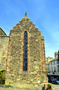 Crow-stepped gable end in Conwy Royalty Free Stock Photo