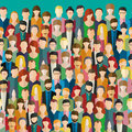 The crowd of abstract people. Royalty Free Stock Photo