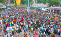 Crowd At Batu Cave During Thaipusam Festival Stock Photography