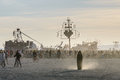 Crowd at Burning Man Festival Royalty Free Stock Photo