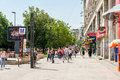 Crowd of busy people going to work bucharest romania june in piata unirii unification square bucharest it is one the largest Royalty Free Stock Photo