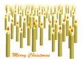 Crowd of christmas candles yellow Stock Photos