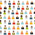 Crowd of color flat people seamless pattern Royalty Free Stock Photo