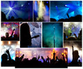Crowd at concert photo collage Stock Photography