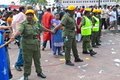 Crowd Control Personnel At Batu Cave Thaipusam Royalty Free Stock Photo