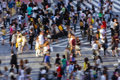 Crowd crossing the street Royalty Free Stock Photo