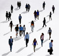 Crowd Diverse People Walking Isolated Concept Royalty Free Stock Photo