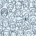 Crowd, diverse persons seamless pattern Royalty Free Stock Photo