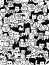 Crowd faces Royalty Free Stock Photo