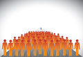 Crowd of followers leader or employees manager graphic group concept vector this illustration can represent executives on career Stock Image