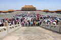 Crowd in Forbidden City, China Stock Photography