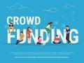 Crowd Funding Concept Illustra...