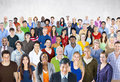 Crowd Large Group of People Multiethnic Diversity Concept Royalty Free Stock Photo