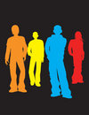 Crowd of men illustration Royalty Free Stock Photo