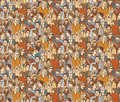 Crowd people color seamless pattern.
