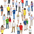 Crowd of people diverse colourful Stock Photography
