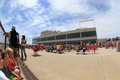 Crowd at Prairie Meadows Royalty Free Stock Photo