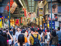Crowd of Shoppers in Osaka Japan Royalty Free Stock Photo