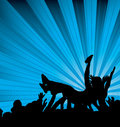 Crowd surf Stock Image