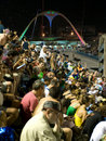 Crowd watching Rio Carnival, Brazil. Stock Image