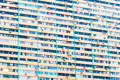 Crowded block of flats in blue shades Royalty Free Stock Photography