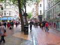 Crowded and busy city street a with people shopping this is in the center of the at birmingham in the united kingdom Royalty Free Stock Photography