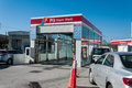 Crowded car wash in weekend po the po is short for petrol office turkey s leading fuel products distribution and lubricants Stock Photography