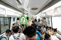 Crowded Chinese metro Royalty Free Stock Photo