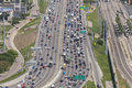 Crowded highway in the usa dallas apr view of a dallas april dallas texas united states Royalty Free Stock Images