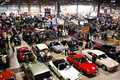 Crowded panoramic view of Classic Car Show Stock Photo