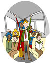 Crowded people bus riders an image of on a Royalty Free Stock Photos