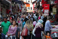 Crowded street in Istanbul Stock Photos