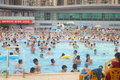 Crowded swimming pool Royalty Free Stock Photo