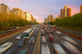 Crowded traffic, Beijing Royalty Free Stock Photo