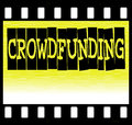Crowdfunding filmstrip simple crowd funding illustration Stock Images