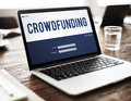 Crowdfunding Money Business Enterprise Graphic Concept Royalty Free Stock Photo