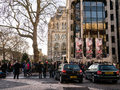 Crowds line up for admission to the natural history museum london england uk during christmas week queues lines form in cromwell Royalty Free Stock Photo