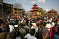 Crowds in nepal Stock Image