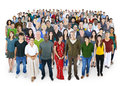 Crowed of Diversity People Friendship Happiness Concept Royalty Free Stock Photo