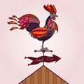Crowing rooster Royalty Free Stock Image