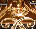 Crown beautiful antique at a balcony Stock Image