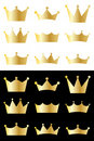 Crown collection Royalty Free Stock Images