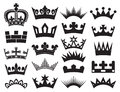 Crown collection Stock Photo