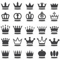 Crown collection set silhouette set Royalty Free Stock Photos