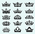 Crown collection vector eps Stock Photo