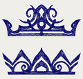 Crown. Doodle style Stock Photos